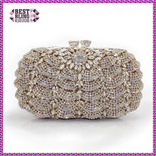 Customied crystal handbag clutch 100% handcraft (8792A-GS)