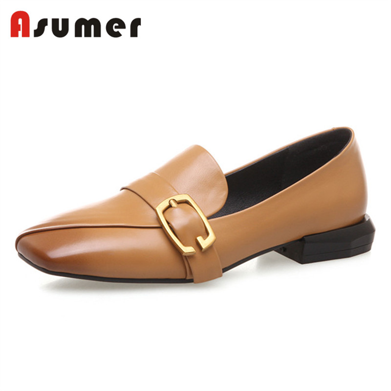 Asumer latest wear fashion for women casual moccasin shoes