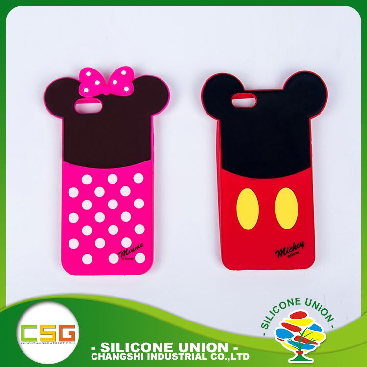 Factory direct sales custom logo single color silicone custom design 5.5 inch mobile phone case