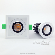 Aluminum rotation led grille lamp 8w recessed led grille light