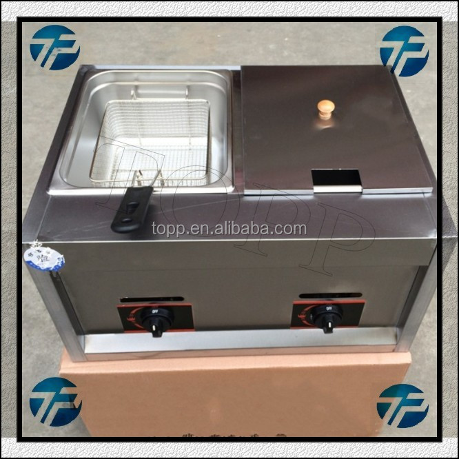 Commercial Double Baskets Electric Gas Deep Fryer Machine