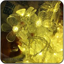 Factory Price Outdoor Garland Flower Shaped String Led Lights