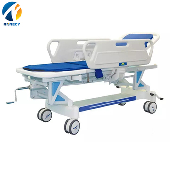 New style patient transport stretcher with manual crank patient transport trolley