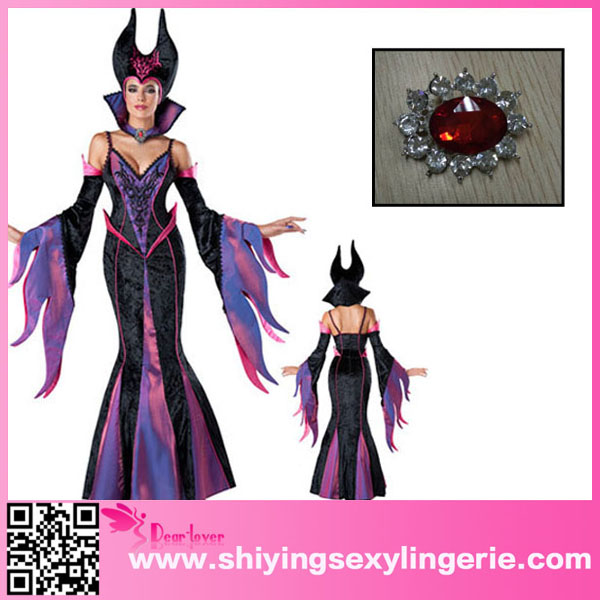 Hot Sale Wholesale 7pcs Deluxe Fairytale Witch Sexy Halloween Costume Patterns