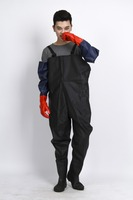 Best quality adult pvc long rain ponchos for adult,customized fishing rubber wader pants set