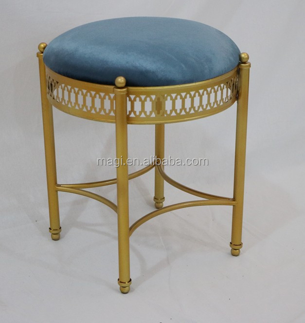 Upholstered Chair Metal Vintage folding stool