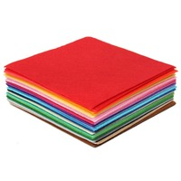 "DIY Craft Sewing Squares Nonwoven Patchwork 40pcs 6""X6"" 1mm Thick Felt Sheet"