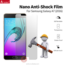 Anti-shock screen protector , nano HD mobile protector film for Samsung A7