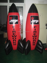 giant inflatable rocket for outdoor Event display