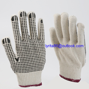 pvc dotted working gloves farm gloves