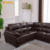 Modern uk style bonded leather sofa set AL607B