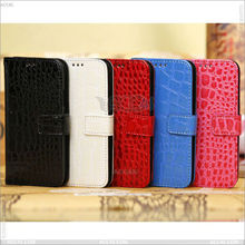 Amazon wholesale Crocodile leather case With Card ID Slot for Samsung Galaxy SIV S4 Mini i9190 P-SAMI9190CASE002