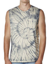 Mens Best Seller Tie Dye Cotton Chest Pocket Raw Cut Sleeve Singlet Tank Top in Top Quality at Cheaper Price from China Factory