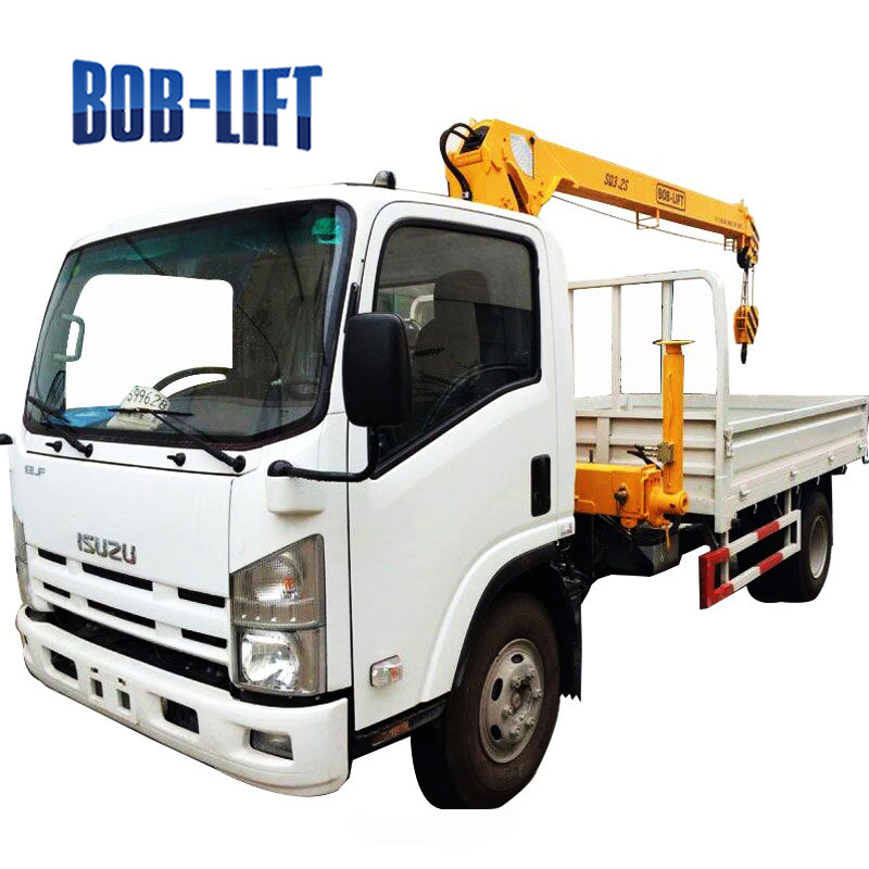 mini 3 ton mobile truck mounted crane for sale in cambodia