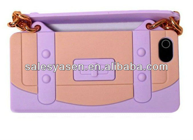 2013 new style For iphone 5 silicone handbag case