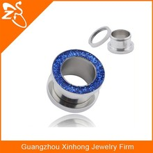 TP01107 stainless steel flesh tunnel body jewelry making supplies
