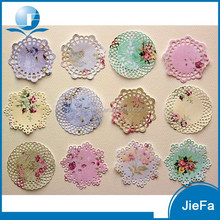 2015 New Product Beautiful Design Of Colored Lace Paper Doilies