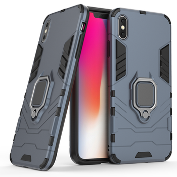 Factory price phone case with ring holder back cover for iphone XS MAX mageric phone case