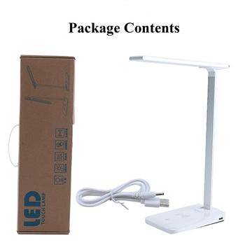 Desk lamp with usb port Wireless charging QI table lamp