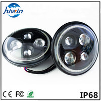 hiwin 7inch round IP67 E-mark approved aluminium shell 24v 7inch motorcycle HW-7048