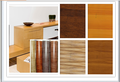 wood grain printing pu coated decorative covering paper factory price cold