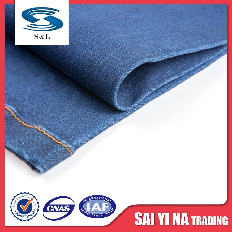 China wholesale factory commercial business style denim fabric