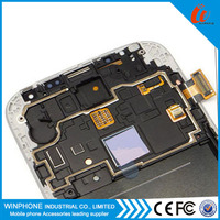 100% Guarantee original lcd screen for samsung galaxy S4 i9500 i9505 with middle frame