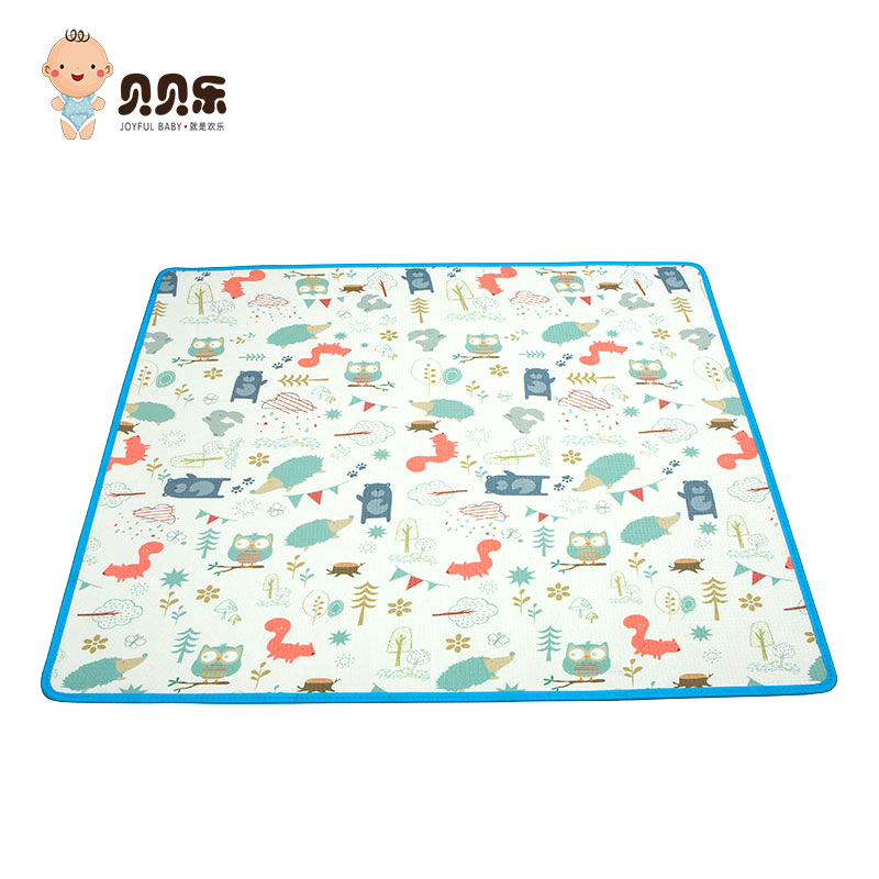 Non-polluting flame-retardant kids folding play mat