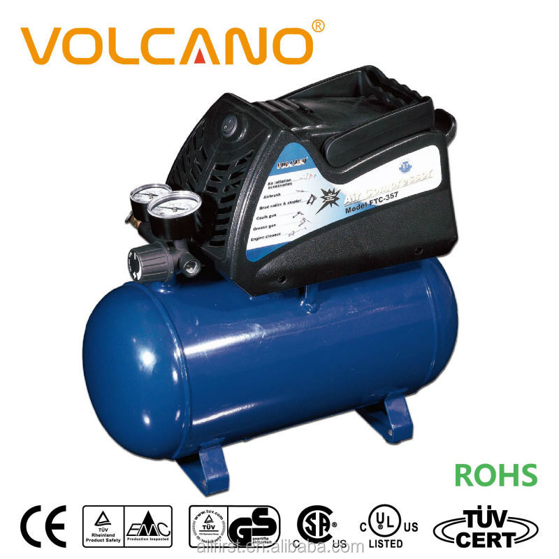Portable air compressor with 6L air tank