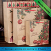 Personalized Christmas wine fancy paper gift bags with handles