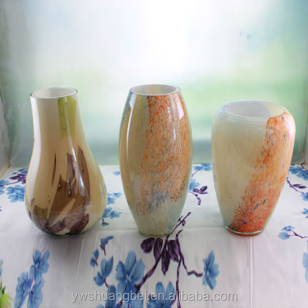 wholesale handblown antique murano colored glass vase