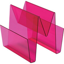 Colored acrylic magazine holder lucite file sorter perspex document display stand