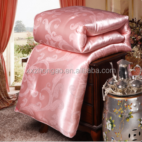 Luxurious Chinese Stain Jacquard Silk Quilt Dubai Home Textile Importers