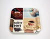 New Coffee Designs Square Shape Food Plastic Tray
