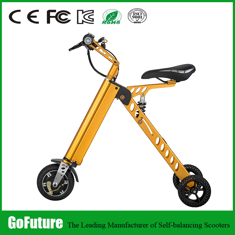 2016 shenzhen factory new model Disc Brake type 3/Three wheel electric motorcycle for adult foldable li battery electric scooter