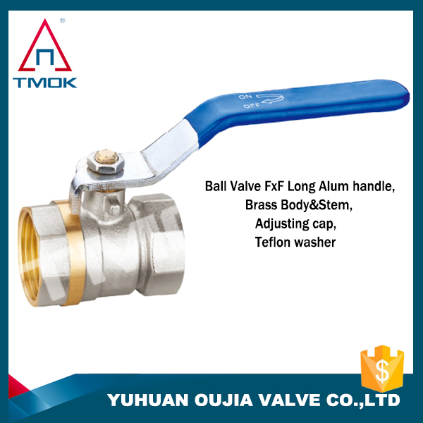 long stem ball valve with forged polishing with CW617n material female threaded connection