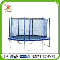 adult 12ft outdoor trampolines with safety enclosure for sale