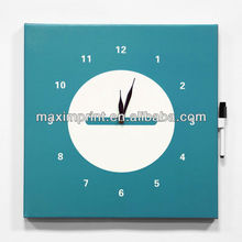 Dry Erase Wall Art with Clock/ Clock Wall Decoration with a pen