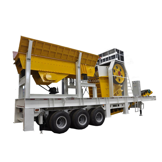 2018 mobile crusher quarry crushing system , agregate crusher/stone breaking machine