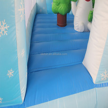 2017 snow theme outdoor activity combo inflatable slide and bouncer material for kids and adult
