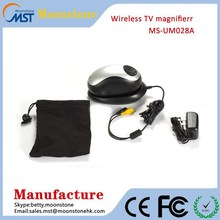 wireless electronic reading aid TV/AV output Mouse shape Reading aids up to 70x mouse magnifier rite aid reading glasses
