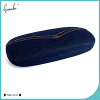 Yiwu Alibaba Wholesale Jean Fabric Reading Glasses Case