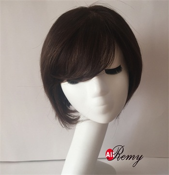 100% Human Hair Mono Top Full Hand Made Short Lace Wigs-622