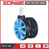 Furniture casters, office chair caster, hard wheel, twin wheel 65MM BIFMA standard N60R-I