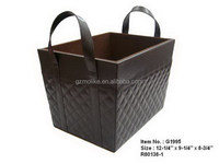 High quality professional leather storage basket sets