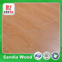 Bevelled Light Color Laminated Floors /Best Price China Apple Wood Laminated Floor