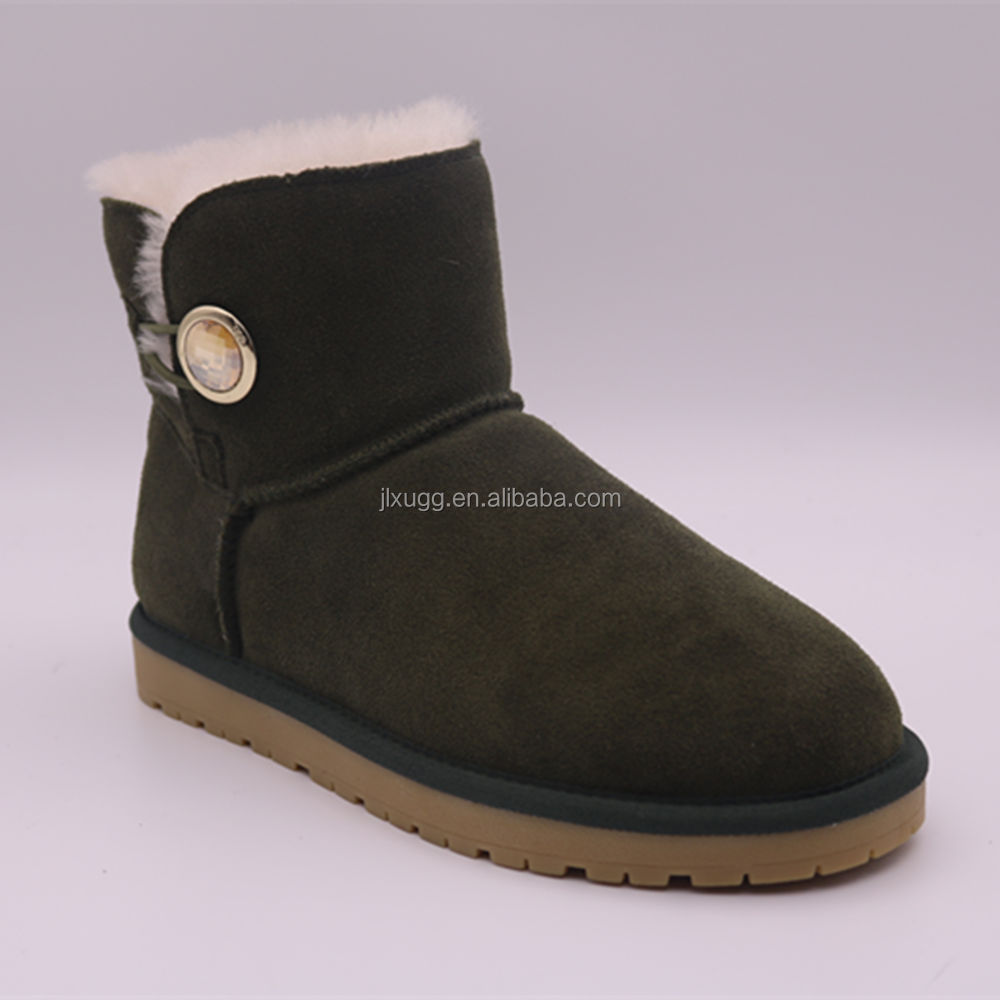 WD808 hot sale sheep wool woman shoes china wholesale winter women snow boots