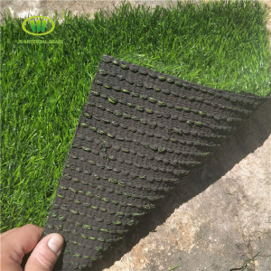 Wholesale custom green color artificial landscaping grass outdoor decoration lawn