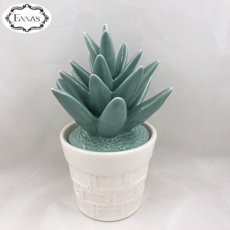 Artificial Ceramic Succulent Faux Mini Plant