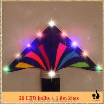 Chinese cheap simple new led night ozone kite from the kite factory